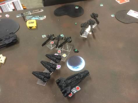 The Secutors close on the Terrans...